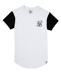 Sik Silk Siksilk Curved Hem T Shirt White