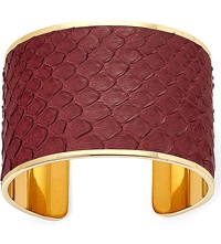Aspinal Of London Cleopatra Pyton Leather Cuff M Burgundy