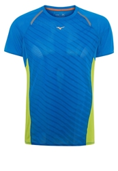 Mizuno Sports Shirt Directoire Blue Lime Green
