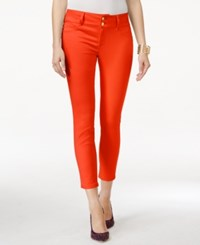Thalia Sodi Double Button Ankle Pants Only At Macy's Coral
