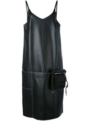 Alyx V Neck Shift Leather Dress Women Cotton Leather Polyamide Viscose L Black
