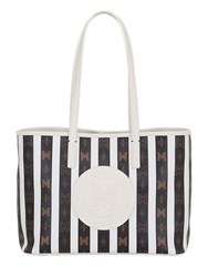 Metrocity Striped Pvc Tote