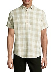Publish Windowpane Plaid Shirt Tan
