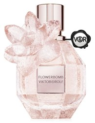 Viktor And Rolf Limited Edition Pink Crystal Flowerbomb Eau De Parfum 1.7 Oz.