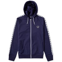 Fred Perry Laurel Taped Hooded Track Jacket Blue