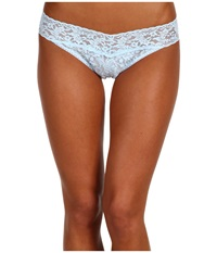 Hanky Panky I Do Original Rise Bridal Thong Powder Blue Women's Underwear