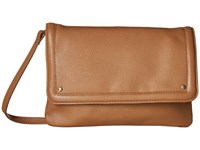 Mighty Purse Vegan Leather Charging Flap X Body Bag Beige Handbags