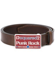 Dsquared2 Punk Rock Buckle Belt Brown