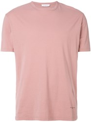 Paolo Pecora Logo Stamp T Shirt Pink And Purple