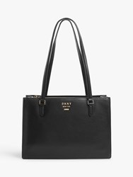 Dkny Whitney Leather Tote Bag Black