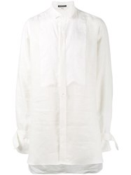 Ann Demeulemeester Brushed Long Sleeve Shirt White
