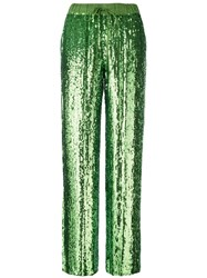 P.A.R.O.S.H. Sequin Trousers Green