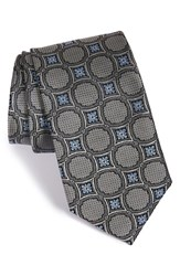 Men's J.Z. Richards Medallion Woven Silk Tie Grey