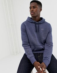 Hollister Icon Logo Overhead Hoodie In Navy