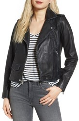 Andrew Marc New York Women's Whitney Washed Leather Crop Jacket