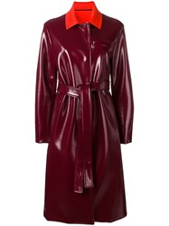 Emilio Pucci Belted Trench Coat Red