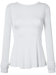Rick Owens Lilies Backless Flared Top Women Cotton Polyamide Viscose 40 White