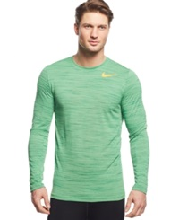 Nike Dri Fit Touch Performance Long Sleeve Shirt Light Green