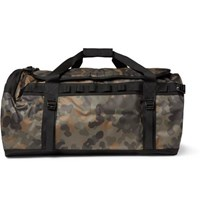 The North Face Base Camp Camouflage Print Coated Canvas Holdall Green