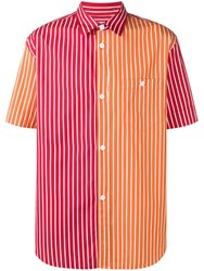 Kenzo Two Tone Striped Shirt Orange