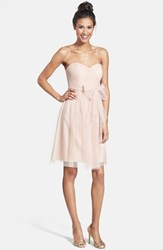 Women's Jenny Yoo 'Wren' Convertible Tulle Fit And Flare Dress Cameo Pink