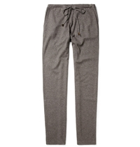 Loro Piana Cashmere And Silk Blend Tracksuit Pants Gray