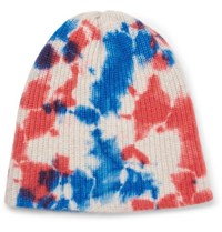 14a03e3c13d The Elder Statesman Watchman Tie Dyed Ribbed Cashmere Beanie Blue
