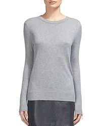 Whistles Zip Cuff Ribbed Detail Sweater Gray Marl