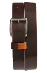 Ted Baker London Quica Leather Belt Chocolate