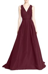 Carolina Herrera Women's V Neck Silk Ballgown