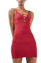 Topshop Women's Strappy Ribbed Body Con Dress