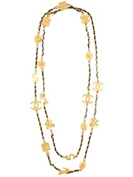 Chanel Vintage Vintage Lucky Charm Necklace Metallic