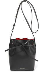 Mansur Gavriel Mini Mini Leather Bucket Bag Black
