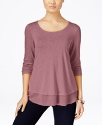 Styleandco. Style Co. Chiffon Hem Top Only At Macy's Pinkberry