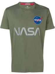 Alpha Industries Nasa Patch T Shirt Green