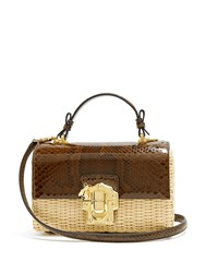 Dolce And Gabbana Lucia Python Woven Bag