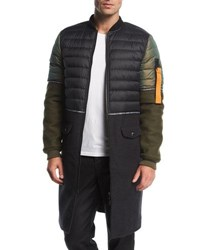 Mostly Heard Rarely Seen Ma 1 Hybrid Quilted Jacket Black
