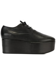 Marsell Platform Lace Up Shoes Women Leather Rubber 38 Black