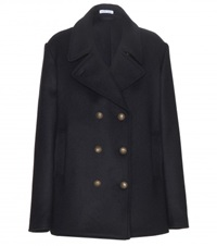 Tomas Maier Wool Blend Pea Coat Blue