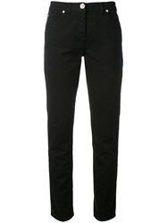 Versace Slim Fit Jeans Women Cotton Spandex Elastane 29 Black