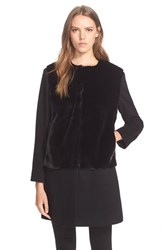 Women's Helene Berman Wool And Cashmere Blend Coat With Faux Fur Front