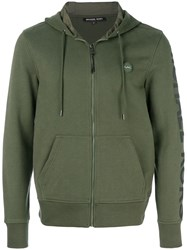 Michael Kors Collection Zipped Hoodie Green