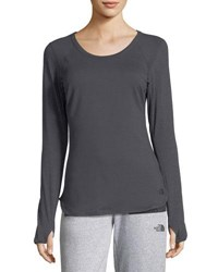 The North Face Motivation Long Sleeve Performance Top Dark Gray