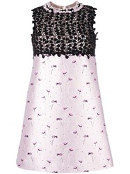 Giambattista Valli Floral Print Shift Dress Pink Purple