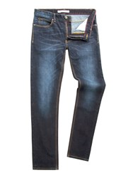 Racing Green Dene Straight Fit Stonewash Jean Blue