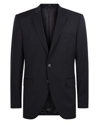 Jaeger Men's Wool Navy Regular Jacket Blue