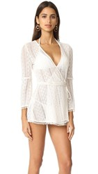L Space Aura Cover Up Wrap Top Ivory