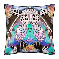 Roberto Cavalli Flying Wings Silk Cushion 60X60cm Fuchsia