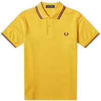 Fred Perry Authentic Slim Fit Twin Tipped Polo Gold