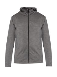 Mover Hooded Base Layer Merino Wool Sweatshirt Charcoal